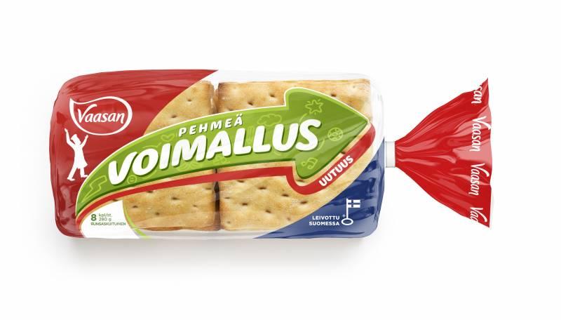 Vaasan Voimallus pehmeä ja uunituore leipäpala