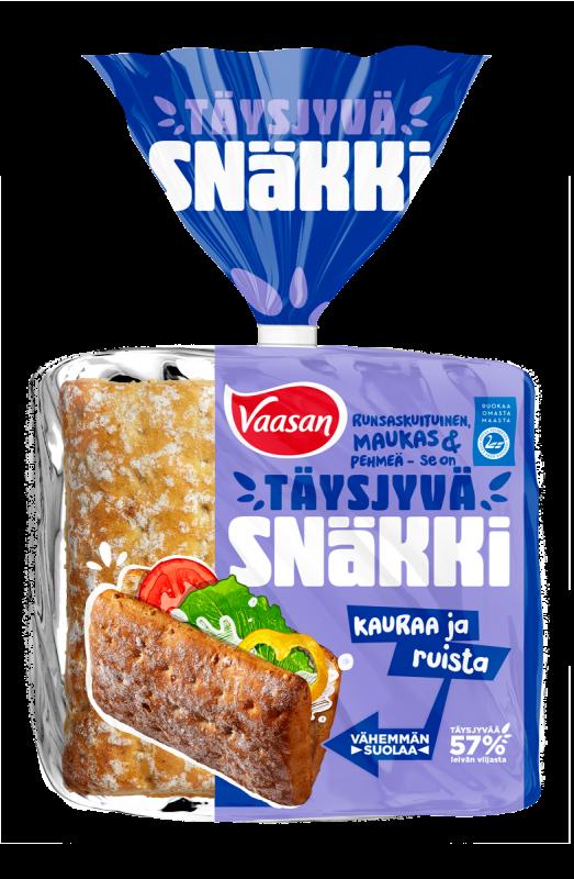 VAASAN Snäkki Täysjyvä Kaura-Ruis 360 g