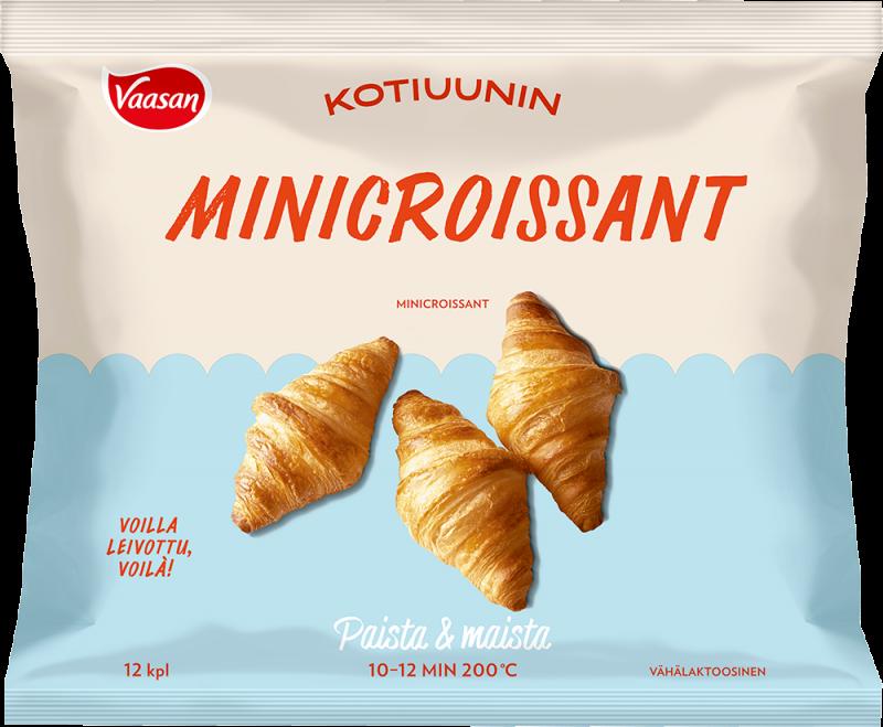 Vaasan Kotiuunin Minicroissant myyntipakkaus