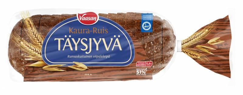 Täysjyvä kaura-ruis leipä
