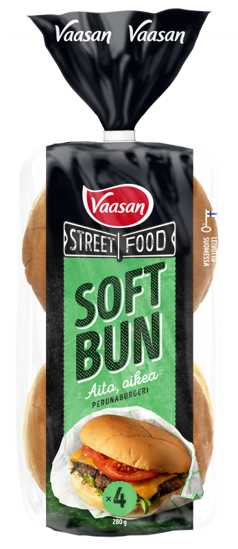 Vaasan Street Food SOFT BUN perunaburgeri